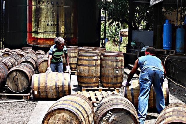 Scène de vie à la distillerie