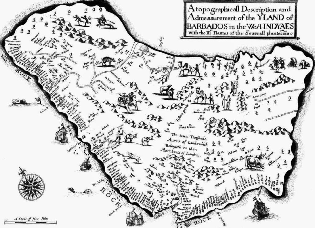 Carte Barbade 1657