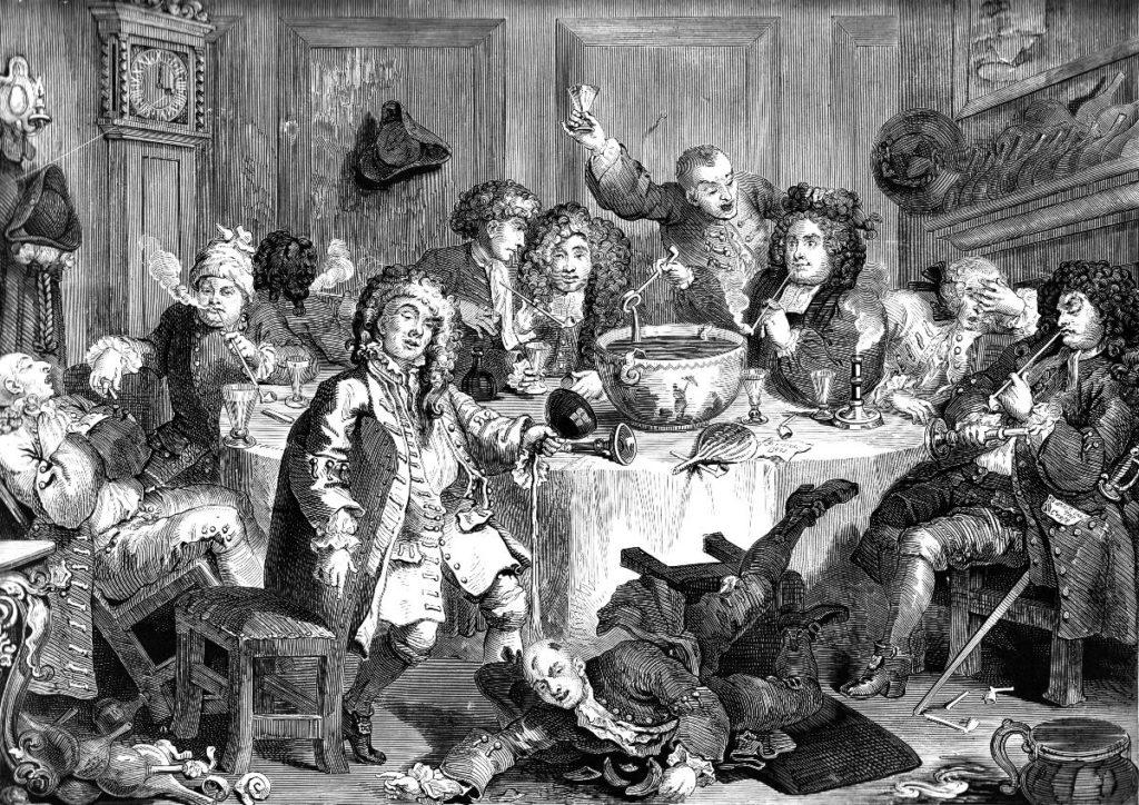 A Midnight Modern Conversation by William Hogarth, 18th century