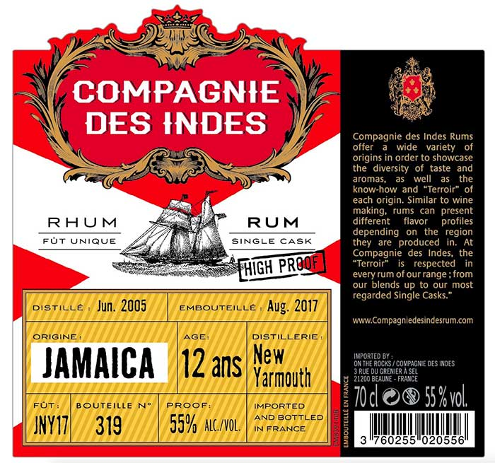 Compagnies des Indes - Jamaica New Yarmouth 12 ans